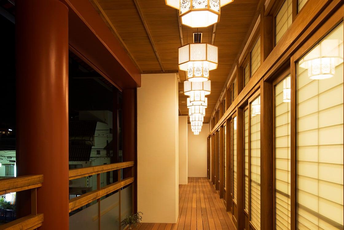 休憩室のデザイン~約60畳の大広間~